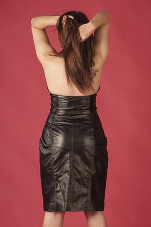 Kort  halterneck-klänning