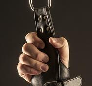 Läderhandboja för upphängning