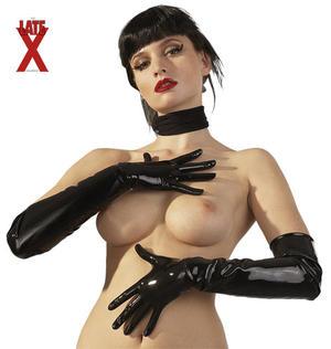 Latex-handskar svarta