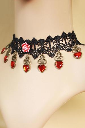 Röd gotiska halsbandet